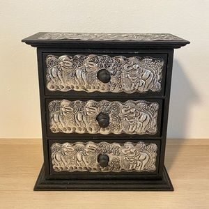 Handcrafted Elephant Jewelry Box